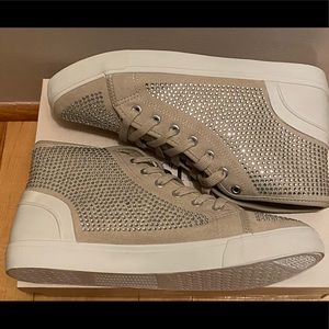 Women's New Studded High Cut Sneakers size 9.5!
